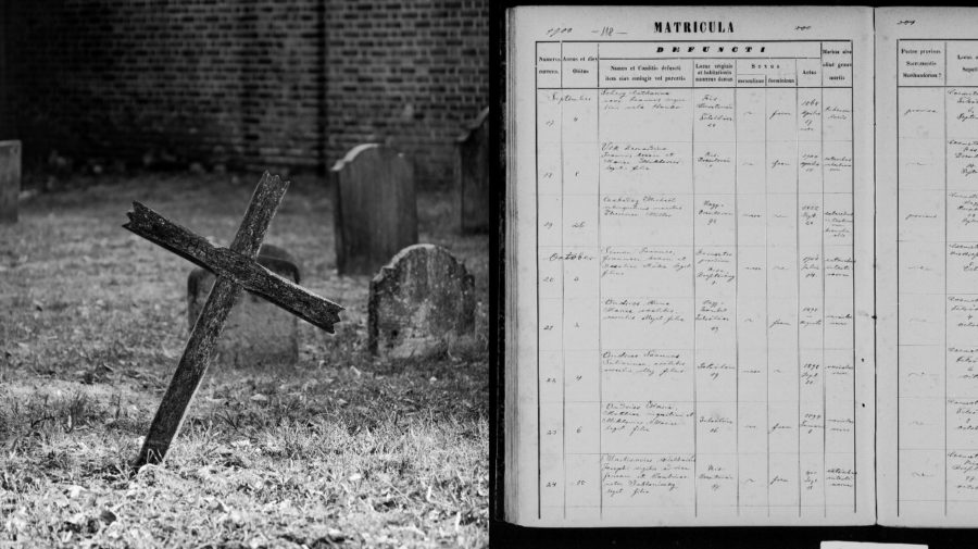 Matrika, úmrtia, cintorín