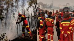 požiare v Grécku
