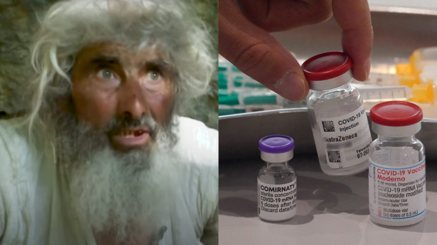 muž z jaskyne, vakcína