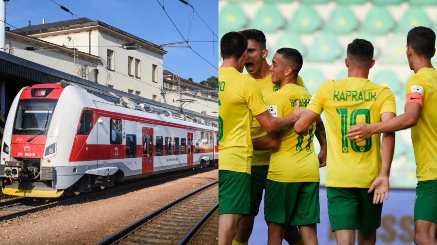 MŠK Žilina išla na zápas Vlakom