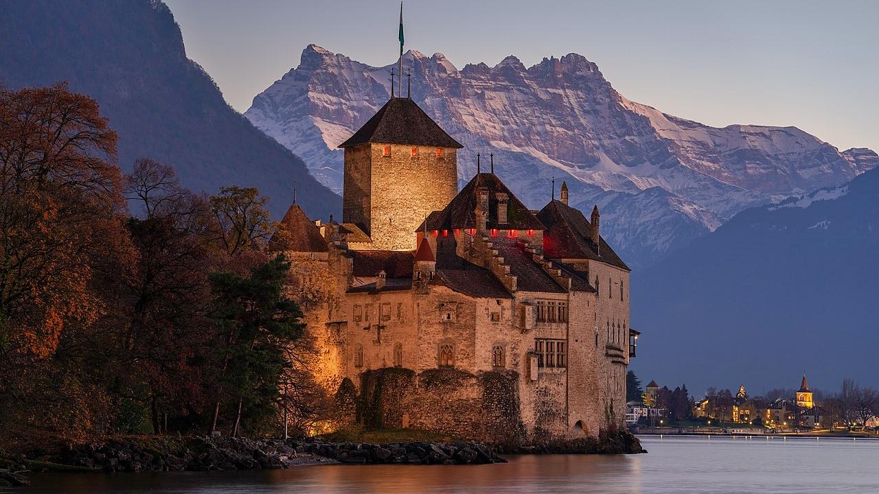 Chillon Ženevské jazero