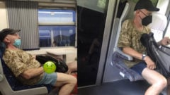 vlak, muž