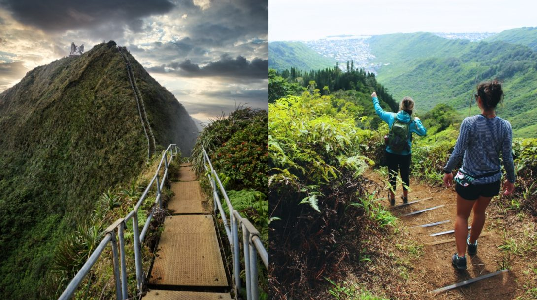 schody do neba Hawaii Haiku cestovanie