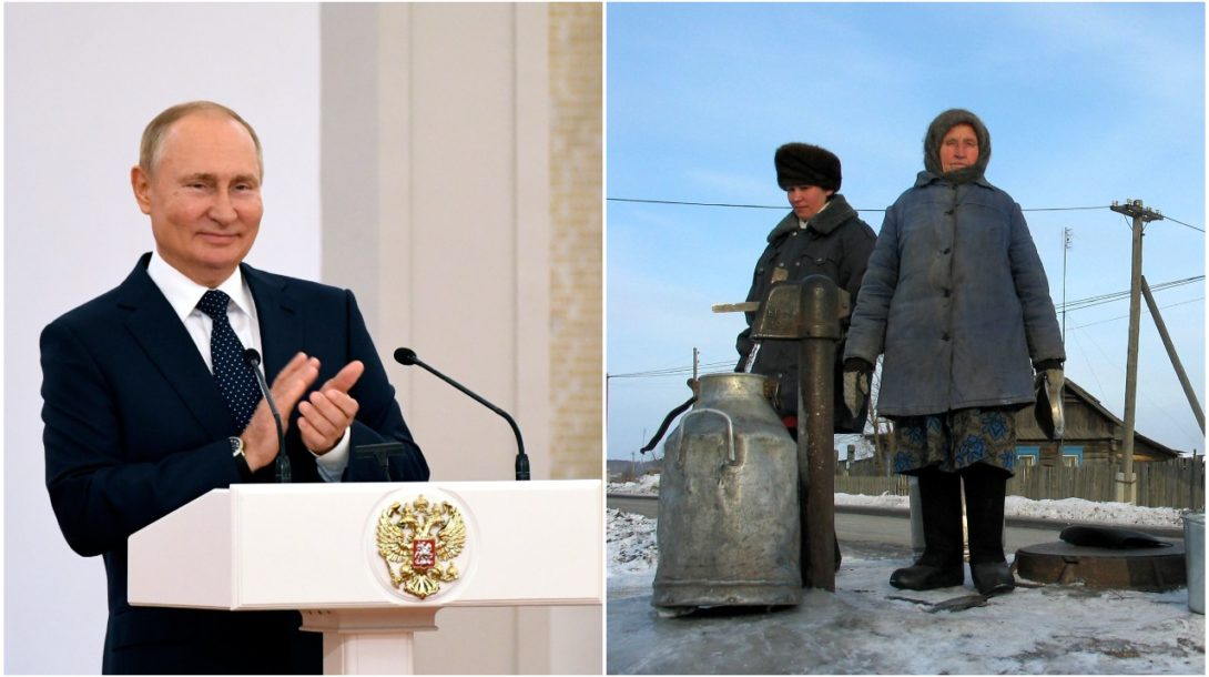 Putin chudoba