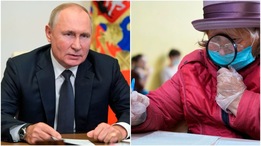 Putin voľby