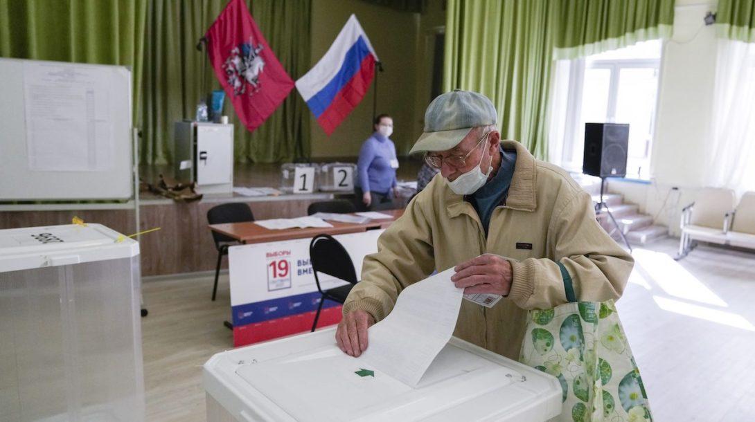 voľby rusko