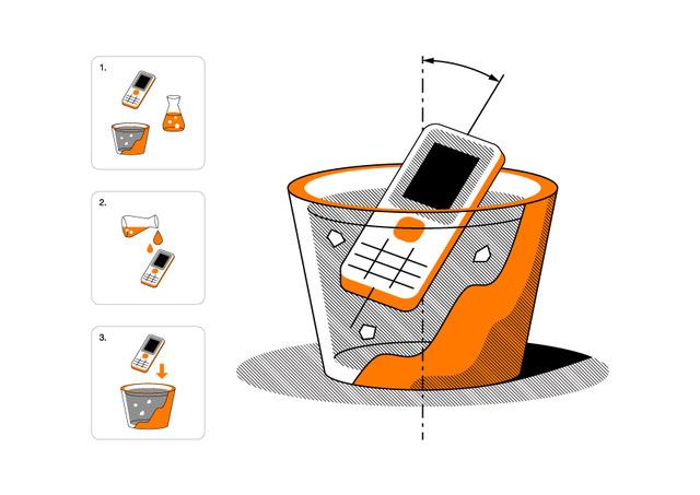 Zber starych mobilov ilustrak