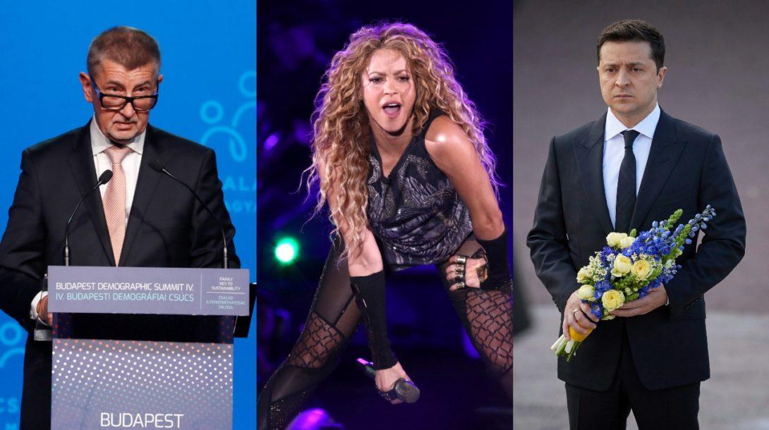 Babiš, Shakira, Zelensky