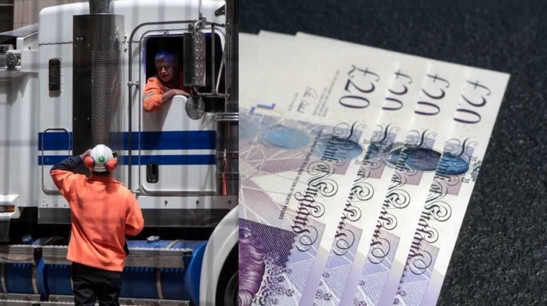 Británia vodiči kamionov
