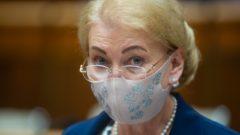 Na snímke poslankyňa NR SR Anna Záborská (OĽaNO) počas rokovania 12. schôdze NR SR