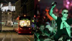Na snímke prázdne centrum Starého mesta počas zákazu vychádzania v Bratislave. Zhruba 3000 ľudí sa zúčastnilo na párty