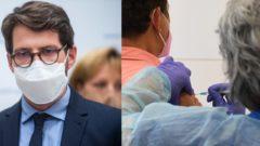 Na snímke riaditeľ Inštitútu zdravotných analýz Ministerstva zdravotníctva (MZ) SR Matej Mišík. Očkovanie 3. dávkou vakcíny klientov Domova sociálnych služieb v Barci v Košiciach.