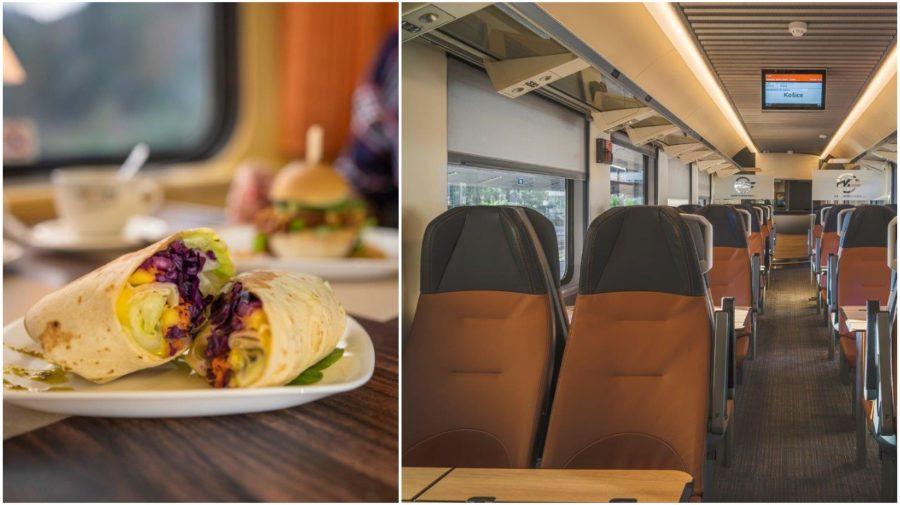 reštauračný vozeň vlak jedlo