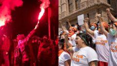 Texas, Varšava, protest, potraty